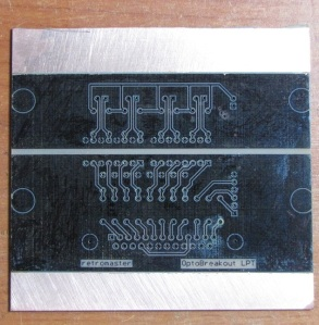 First Good PCB with the MF70 CNC
