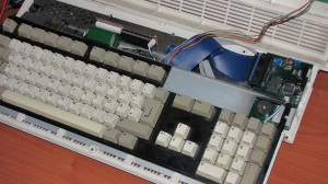 UFE Rev A1 Installed on Amiga 1200 (Cover Off)