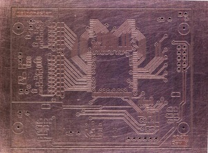 A2601 Rev B Homebrew PCB After Etching Top Side