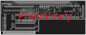 UFE A1200 Keyboard Daughterboard Updated PCB (Preliminary)