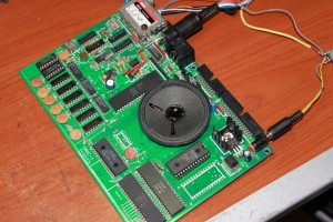 Repaired Oric Atmos Mainboard Full View